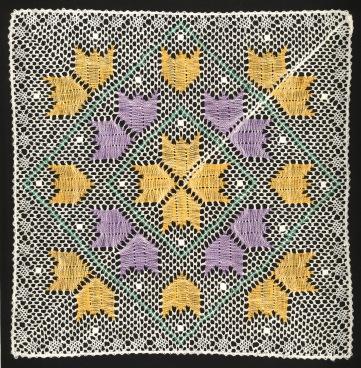 Tulipanaros Stor Knypplad Färg Katalogbild
