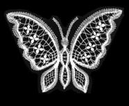 Fjäril med mandlar liten