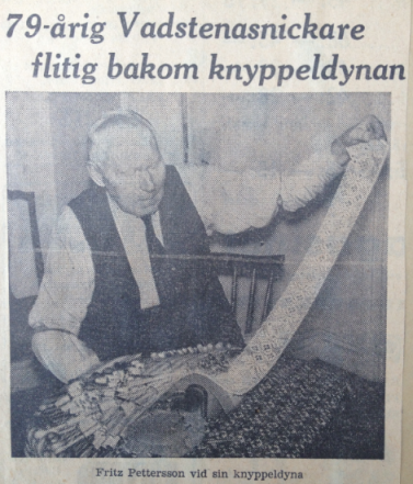 Fritz Pettersson med knyppeldynan
