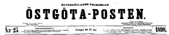 Östgötaposten 1898