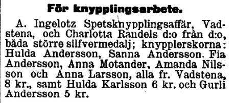 Hulda och sanna och aurore 1898