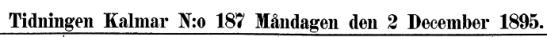 Kalmar tidning