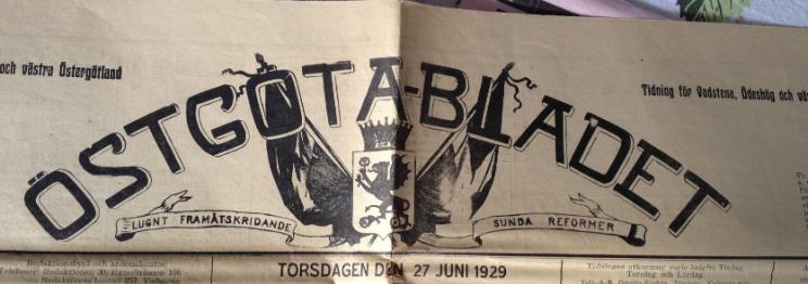 Östgötabladet 1929