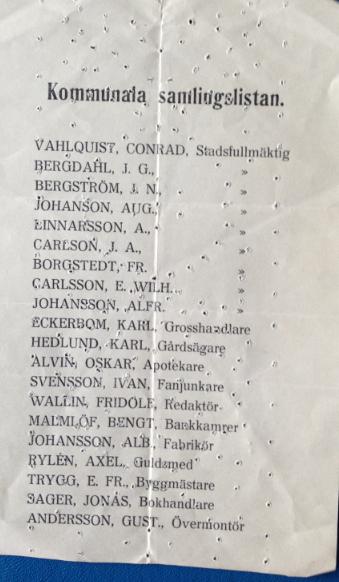 Klara kommunala samlingslistan