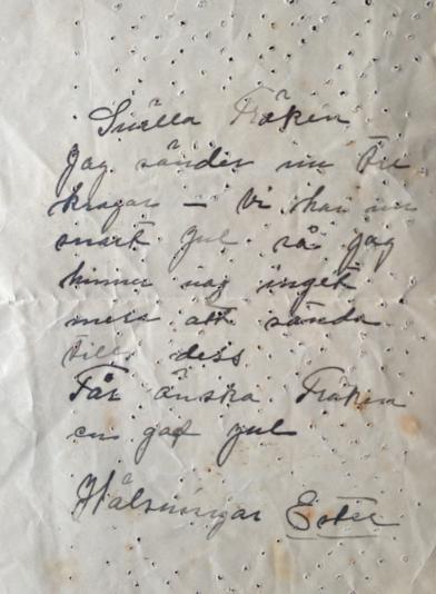 Klara utkast brev
