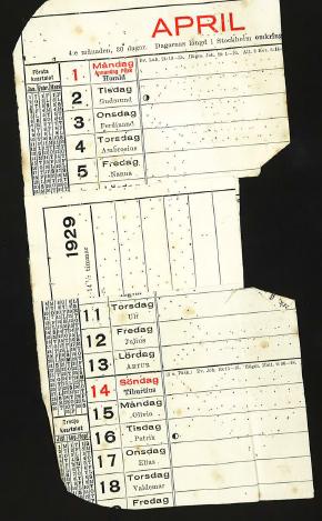1929 kalender