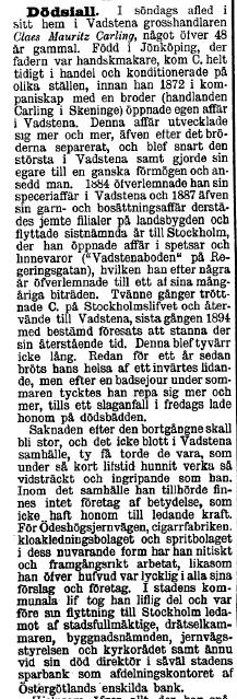 CArling 24 januari 1896