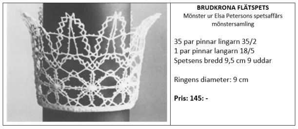 Brudkrona flätspets